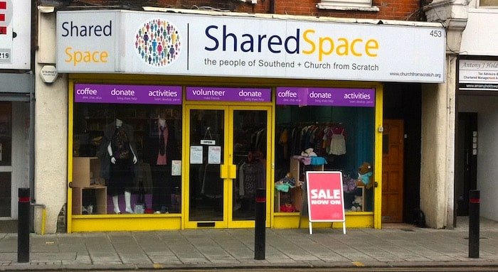 Shared Space shopfront in 2010