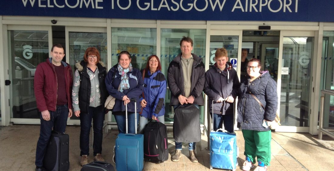 Team at glasgow airport