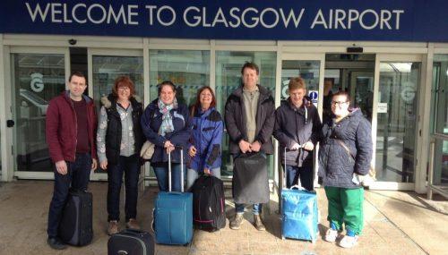 Volunteers visit Scotland