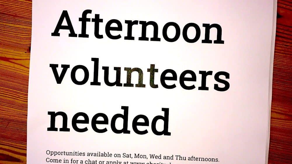 Poster - volunteers needed