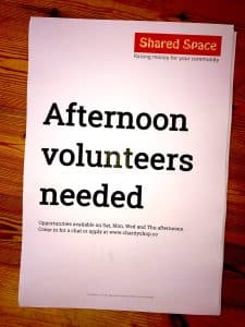 Poster - volunteers needed