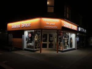 Shared Space Southchurch new shop sign